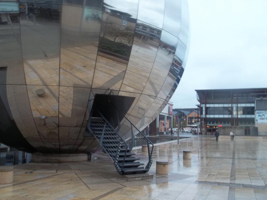 Rain Photograph - Bristol Alien Landing by James Potts