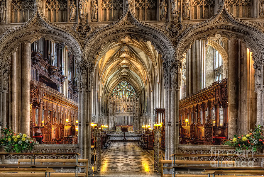 Aisle Photograph - British Church by Adrian Evans