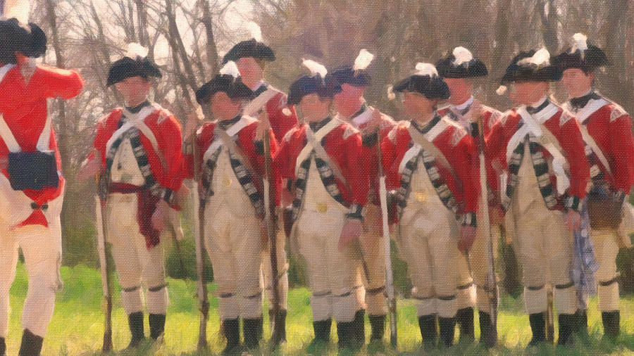 British Regiment Painting  - British Regiment Fine Art Print