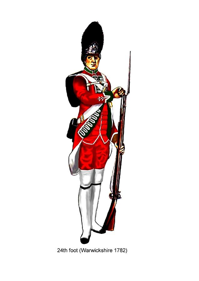 British Uniforms Painting  - British Uniforms Fine Art Print