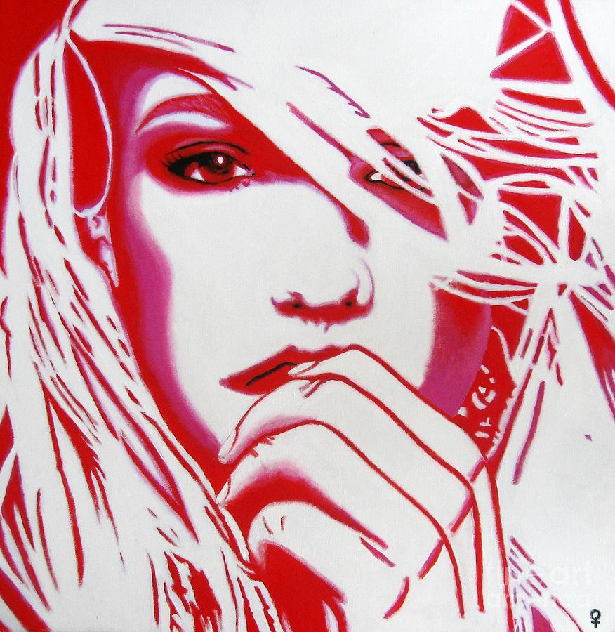 Britney Spears Painting  - Britney Spears Fine Art Print