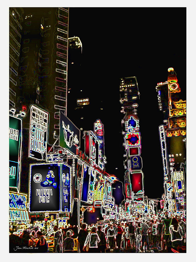 Broadway Digital Art  - Broadway Fine Art Print