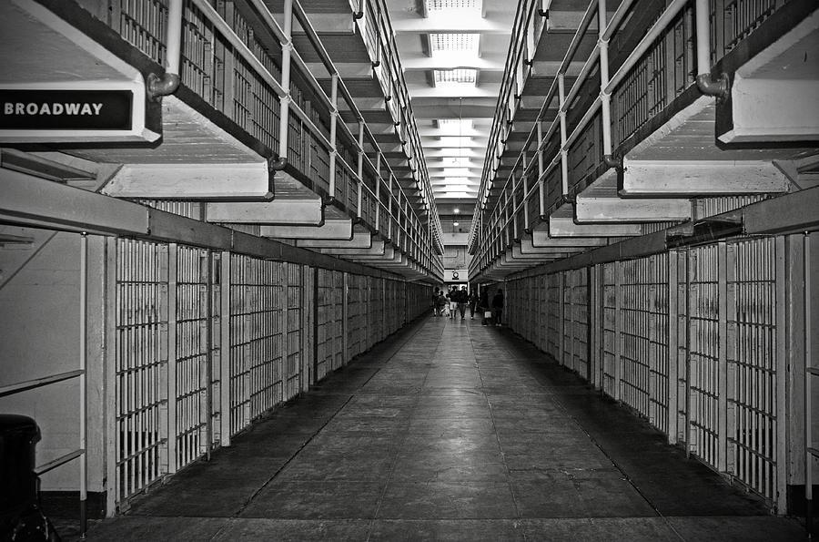 Broadway Walkway In Alcatraz Prison Photograph