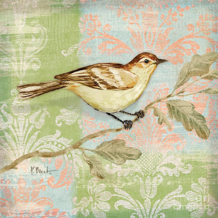 Brocade Songbird I Painting