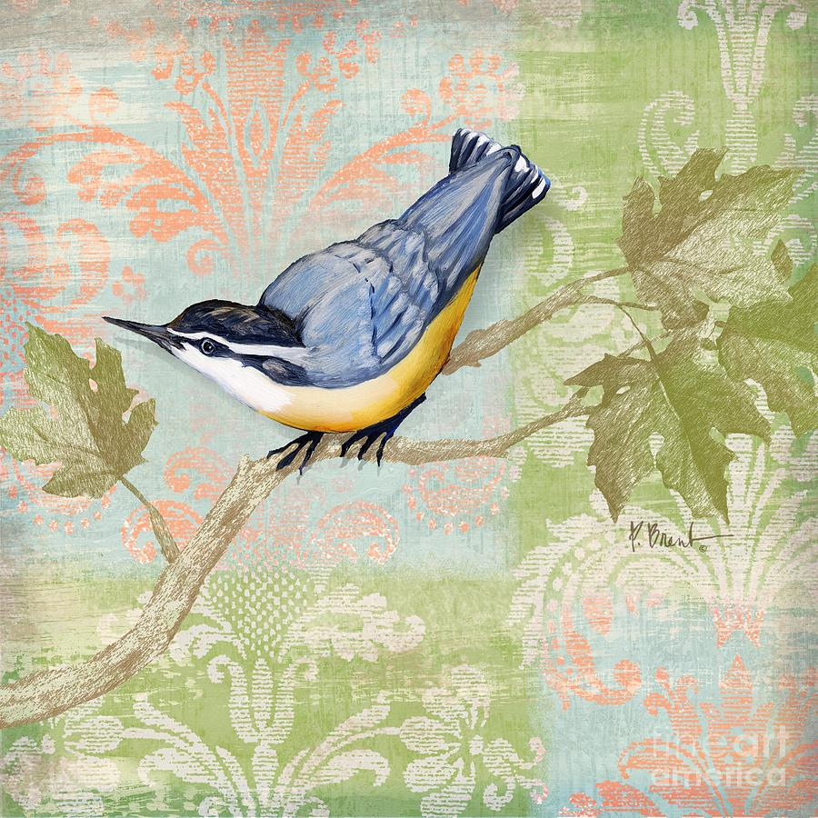Brocade Songbird IIi Painting