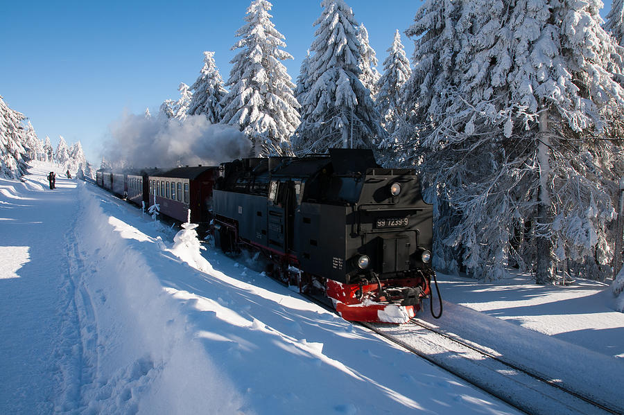 Winter Photograph - Brockenbahn by Andreas Levi