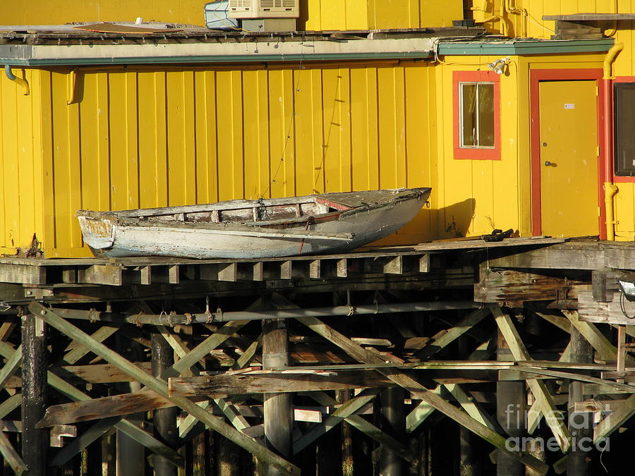 Broken Boat Fishermans Wharf Photograph