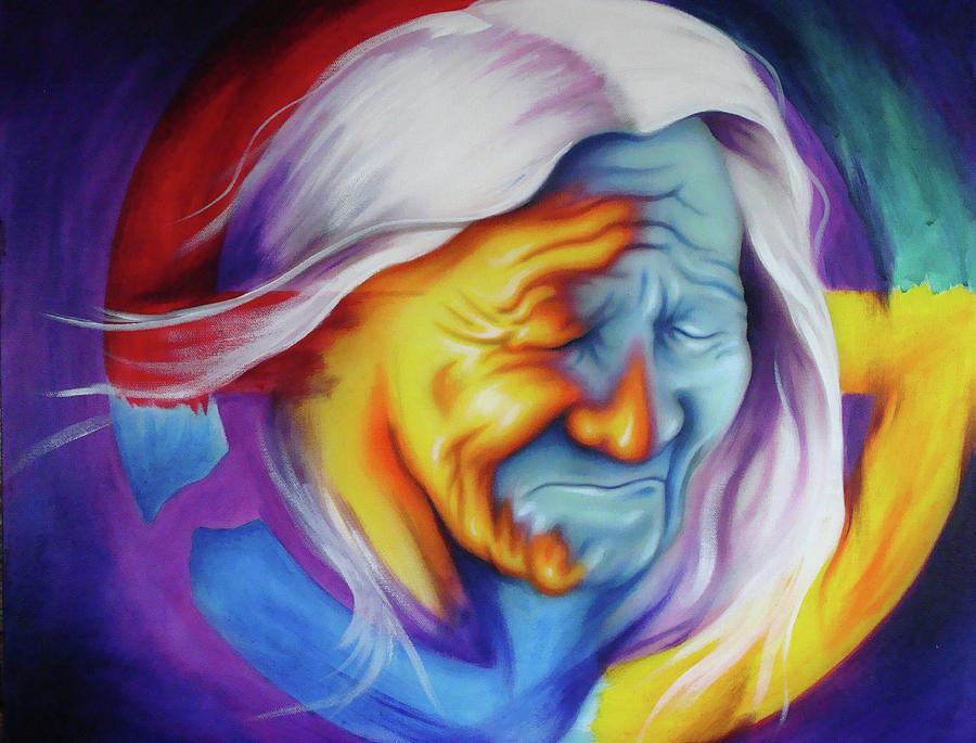 Native American Art Painting - Broken Circle by Robert Martinez
