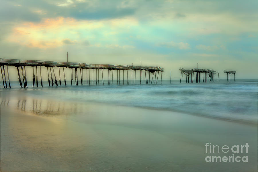 Outer Banks Painting - Broken Dreams - Frisco Pier Outer Banks II by Dan Carmichael