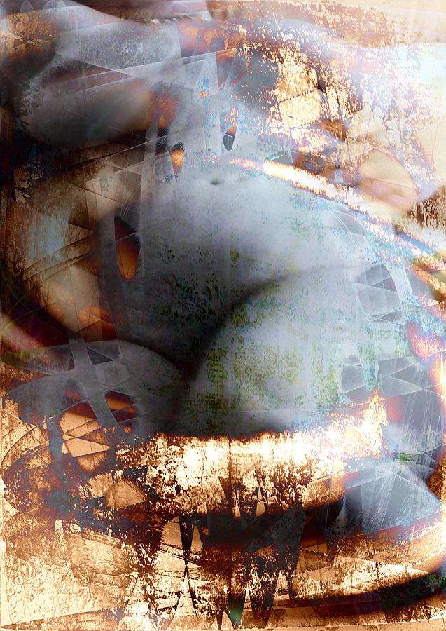 Nude Photograph - Bronze Round Blue by Florin Birjoveanu
