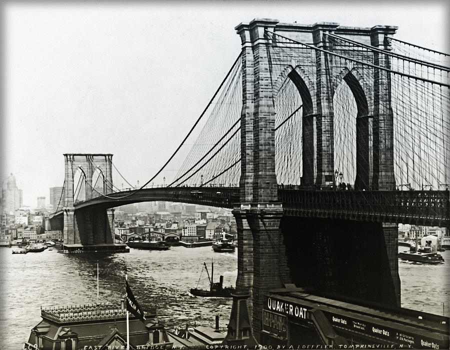 Brooklyn Bridge 1900 is a photograph by Digital Reproductions which ...
