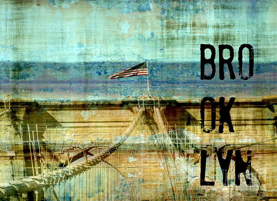 Brooklyn Bridge Collage Digital Art