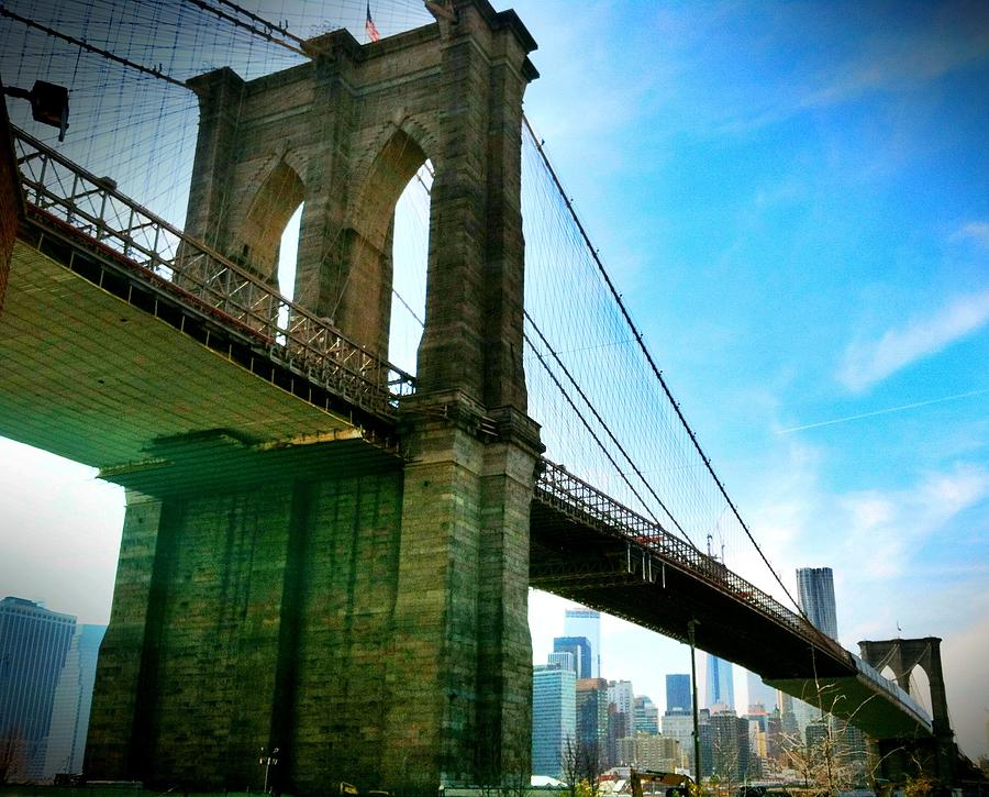 Brooklyn Bridge Glow Photograph  - Brooklyn Bridge Glow Fine Art Print
