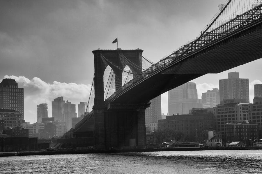 Brooklyn Bridge In Black And White by Stephen McCabe