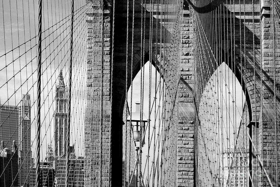 Brooklyn Bridge New York City Usa Photograph