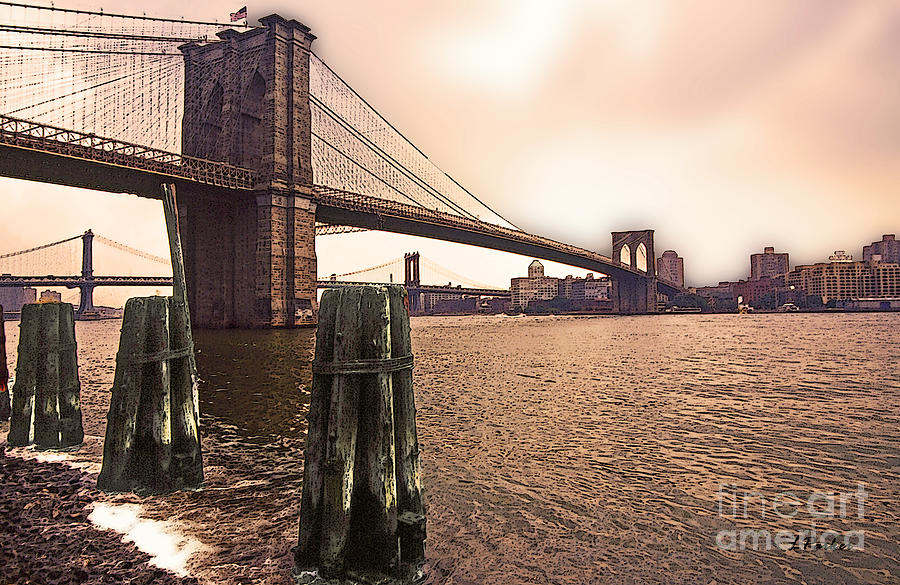 Brooklyn Bridge Of New York City Photograph