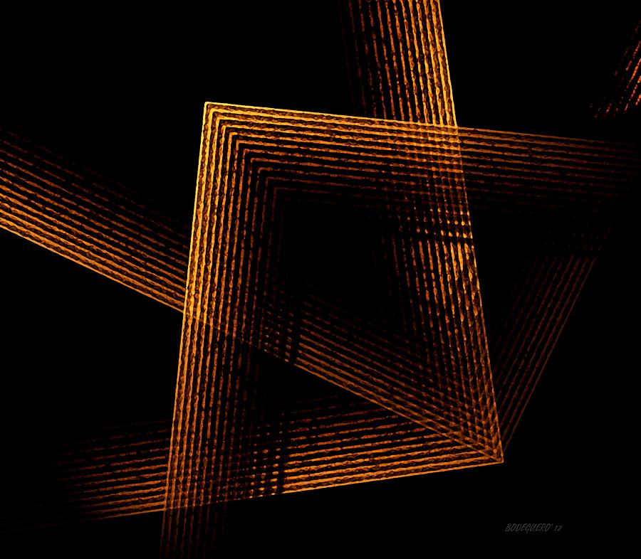 Brown And Black In Lines Digital Art  - Brown And Black In Lines Fine Art Print