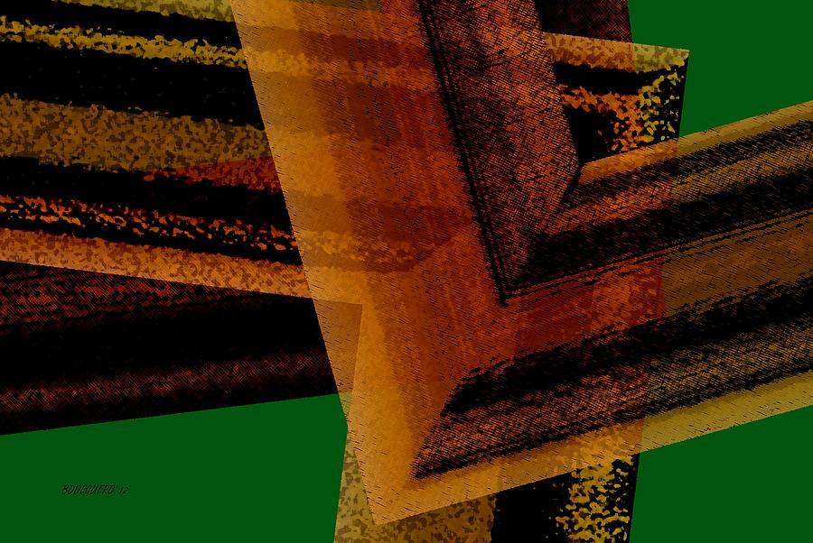 Brown And Green Graphic Design Digital Art  - Brown And Green Graphic Design Fine Art Print