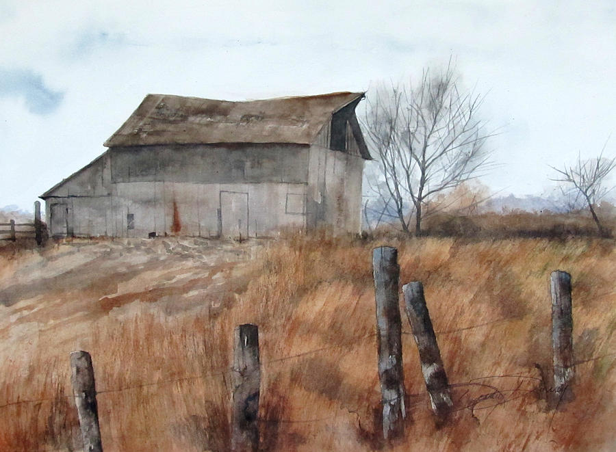 brown barn painting by denny dowdy With brown barn paint