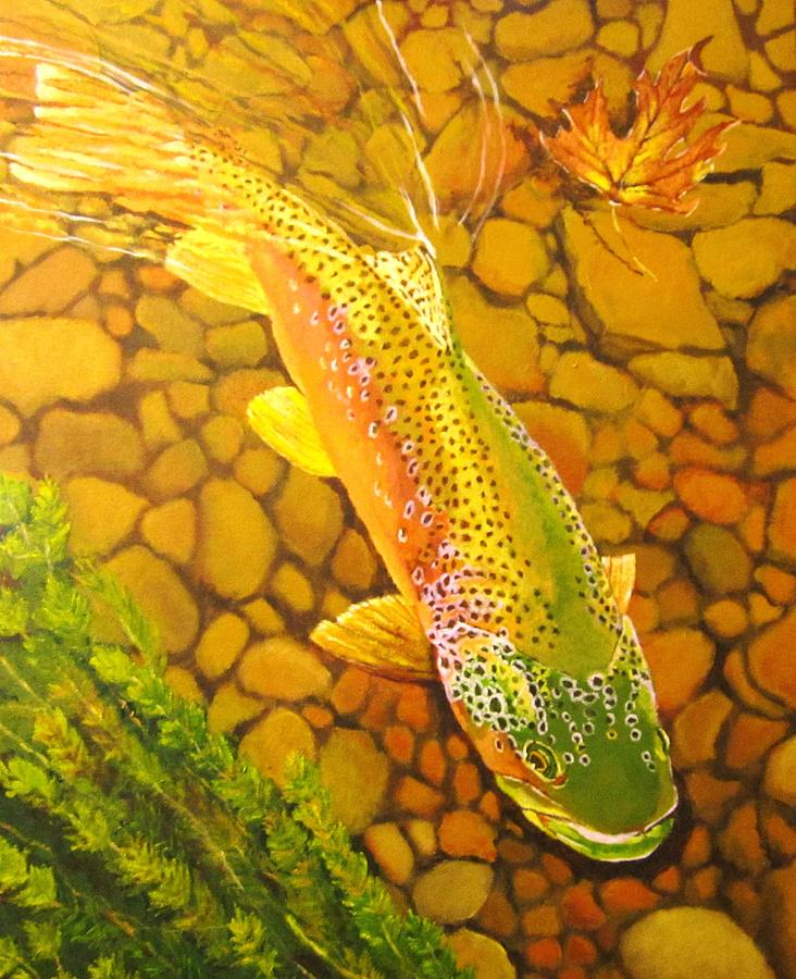 Brown Fish Painting  - Brown Fish Fine Art Print