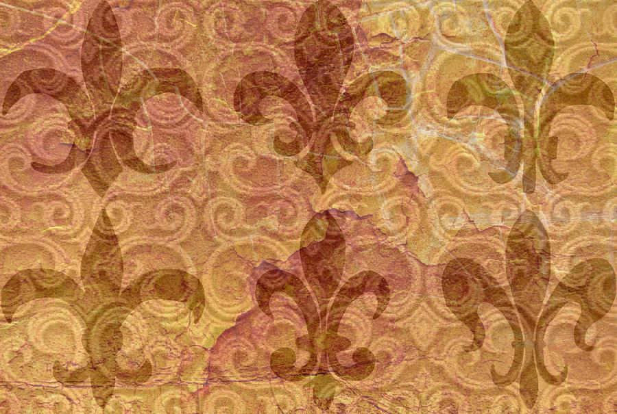 Brown Fleur De Lis Digital Art