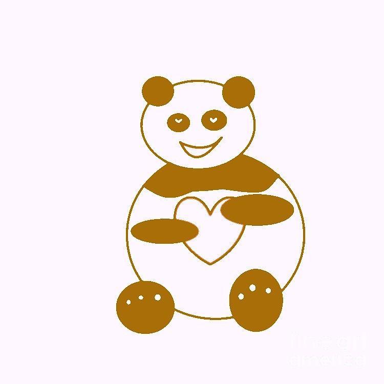 Panda Photograph - Brown Panda by Ausra Huntington nee Paulauskaite