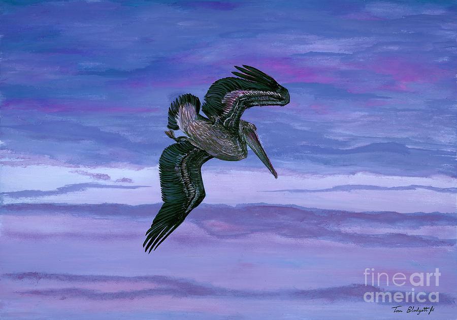 Brown Pelican Painting - Brown Pelican by Tom Blodgett Jr