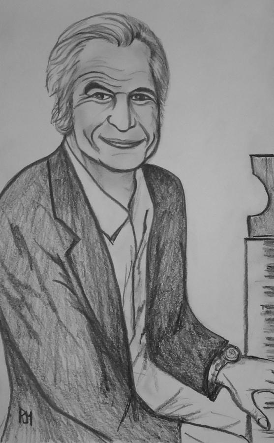 Dave Brubeck Drawing - Brubeck by Pete Maier