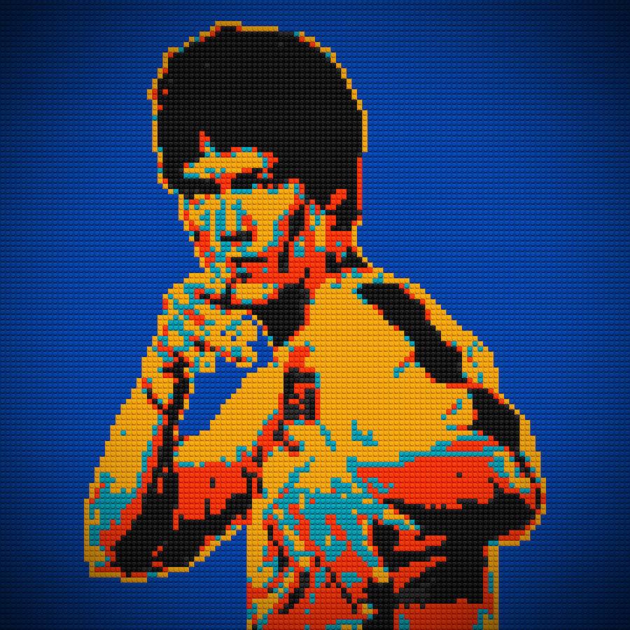 Bruce Lee Lego Pop Art Digital Painting Painting