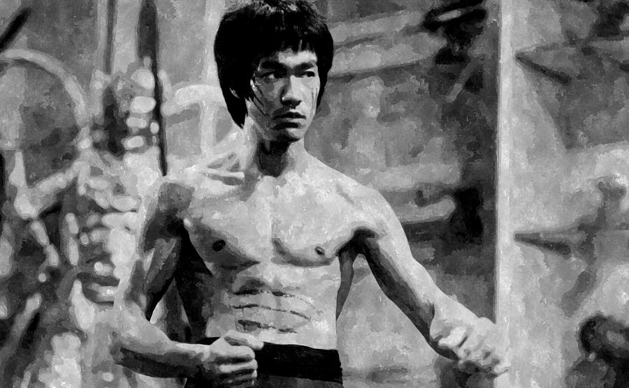 Bruce lee painting painting by florian rodarte for Lee s painting
