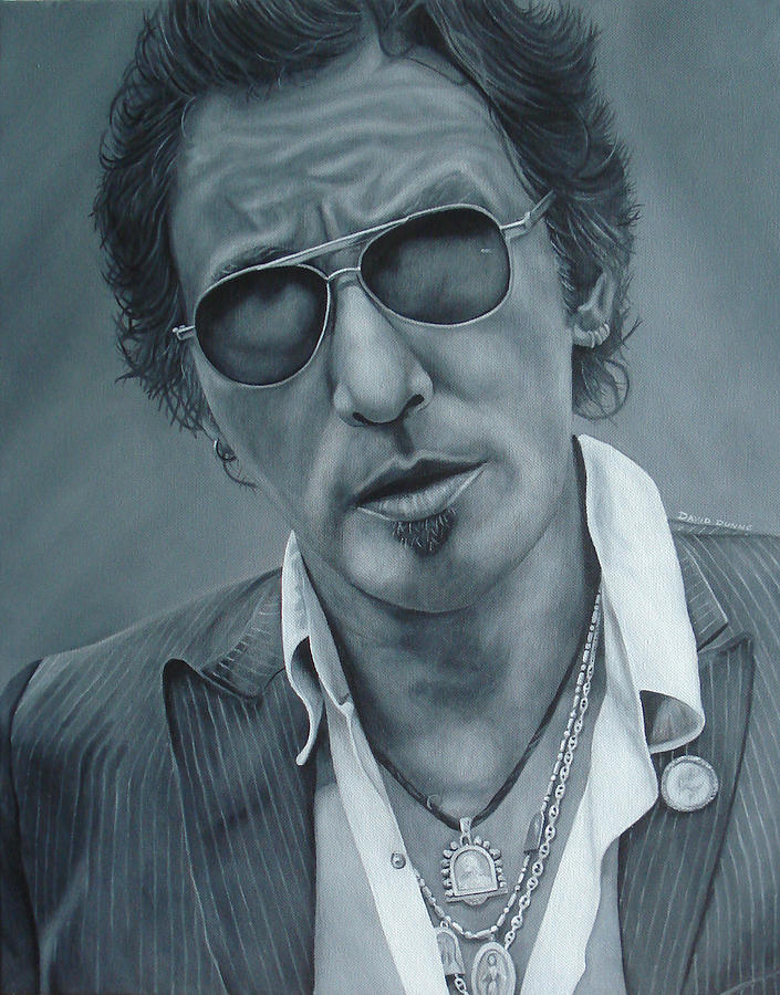 Bruce Springsteen Painting - Bruce Springsteen IIi by David Dunne