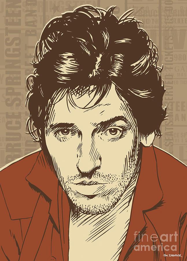 Bruce Springsteen Pop Art Digital Art