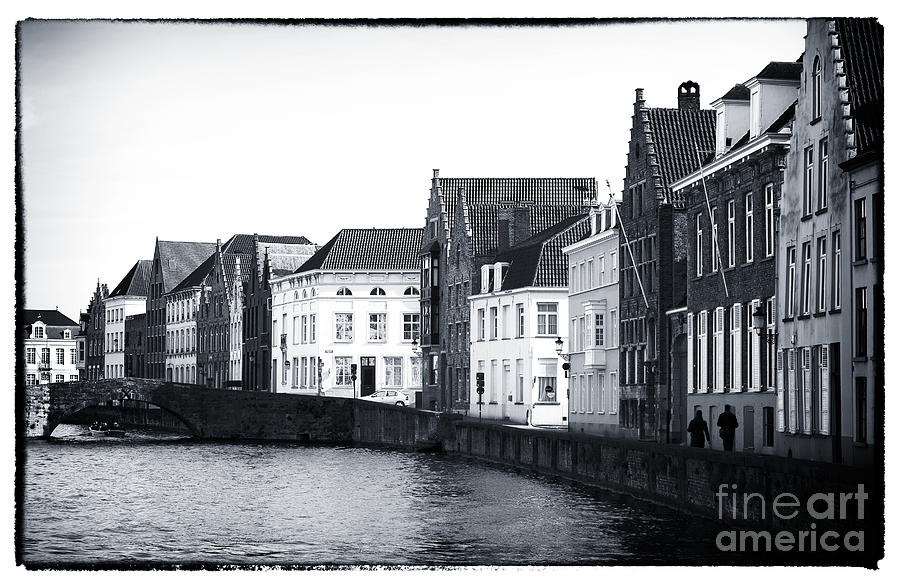 Bruges Canal Scene Ix Photograph