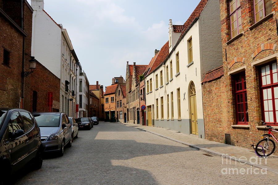 Bruges Side Street Photograph
