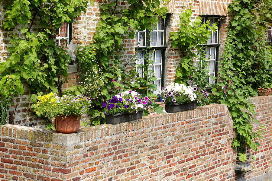 Bruges Photograph - Brugge Balcony by Carol Groenen