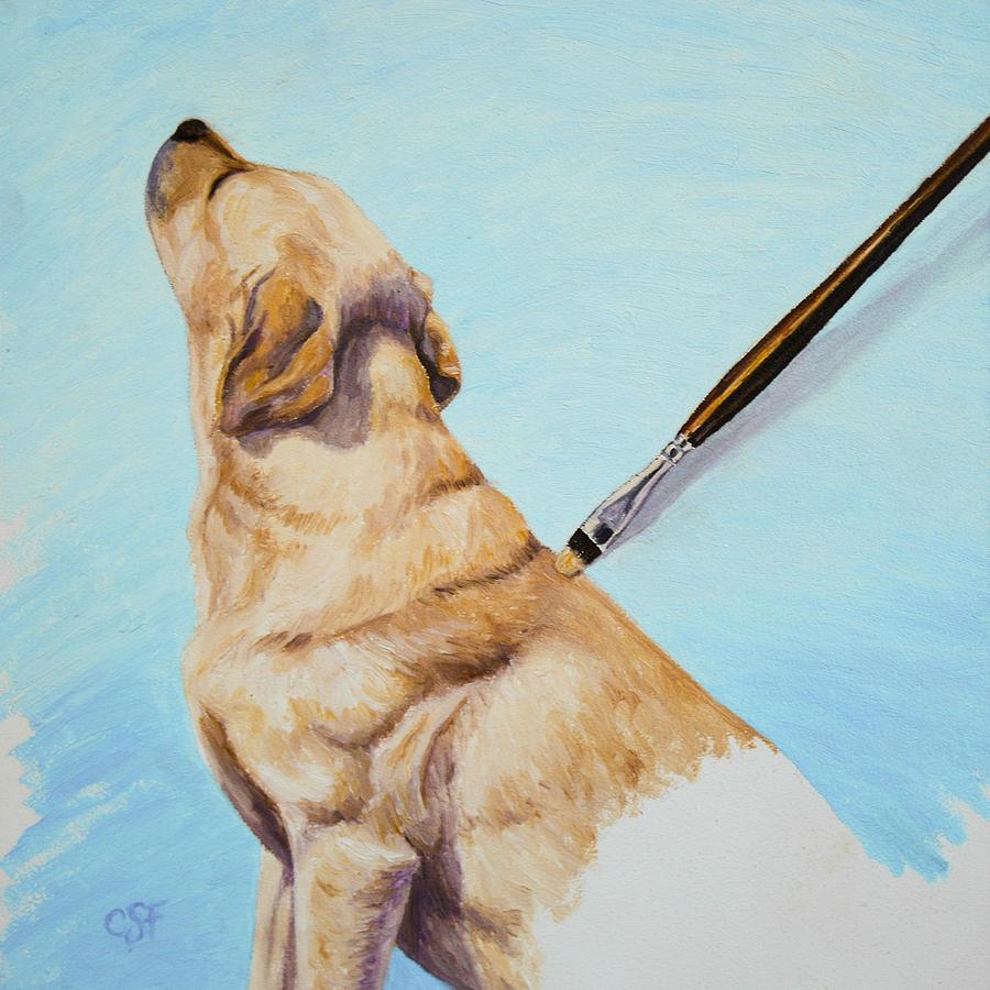 Brushing The Dog Painting