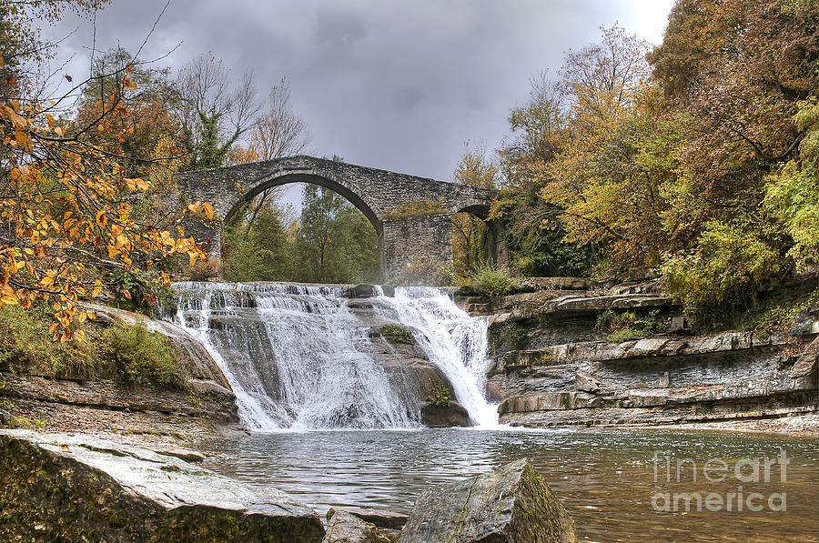 Brusia Bridge And Waterfall  Photograph  - Brusia Bridge And Waterfall  Fine Art Print