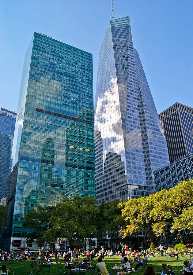 Bryant Park And Architecture Photograph  - Bryant Park And Architecture Fine Art Print