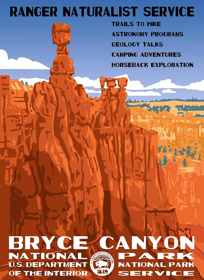 Bryce Canyon National Park Vintage Poster 2 Photograph By