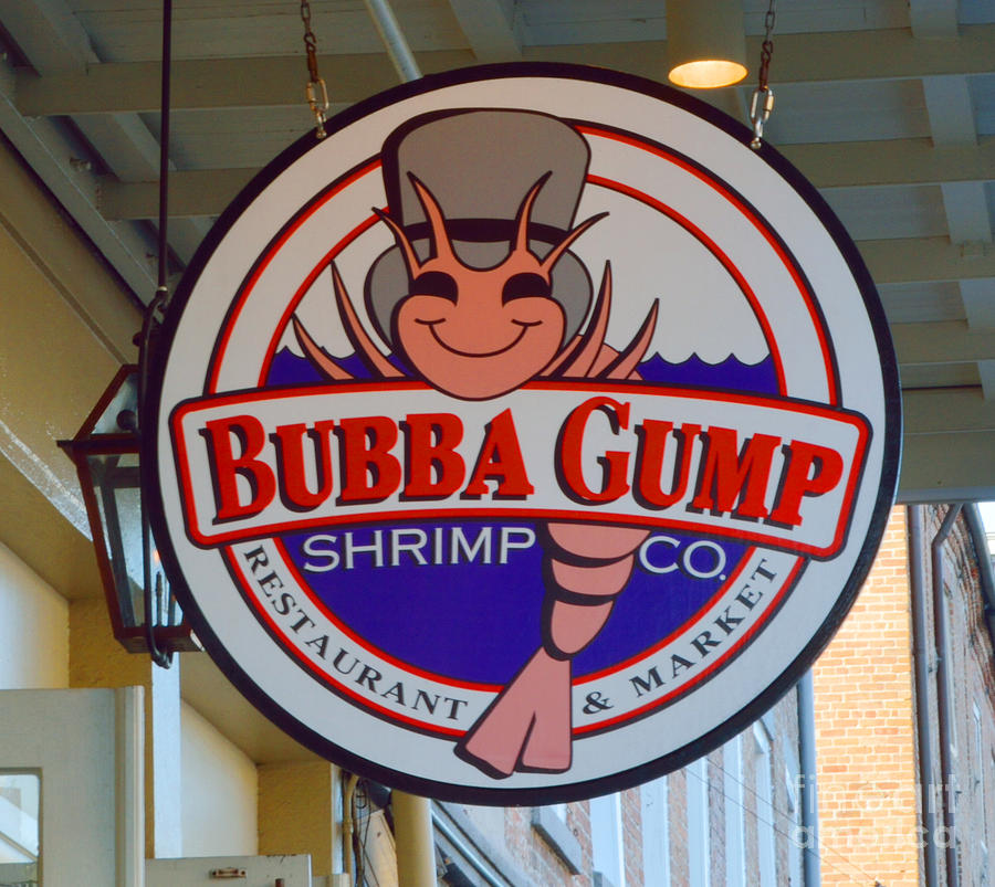 New Orleans Photograph - Bubba Gump Shrimp Sign by Alys Caviness-Gober