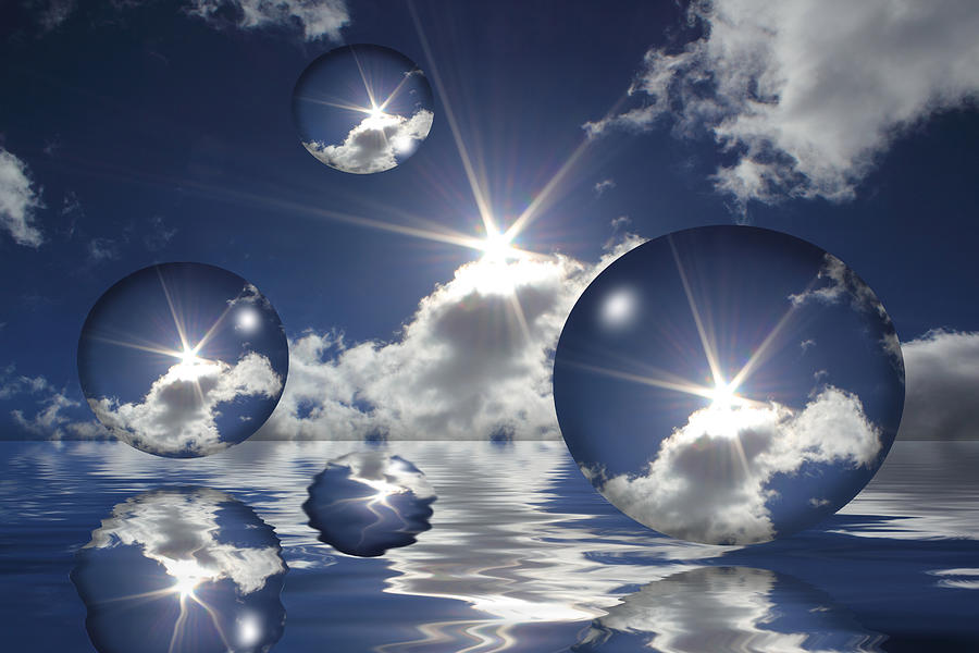 Bubbles In The Sun Photograph