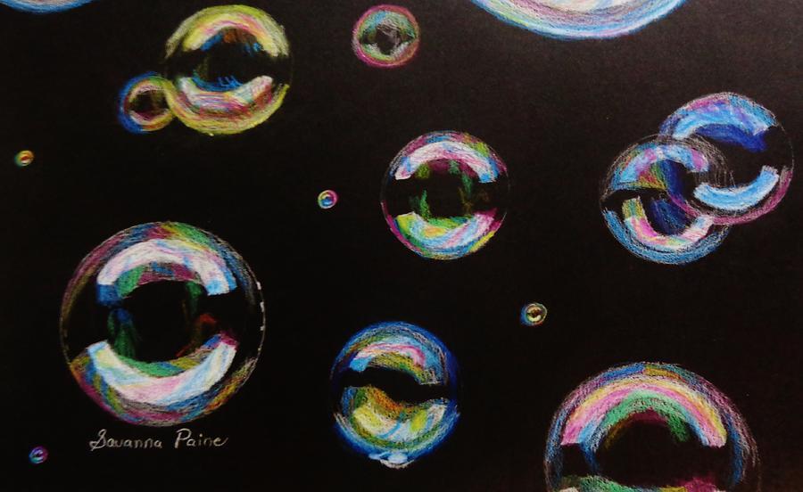 Bubbles Drawing - Bubbles by Savanna Paine