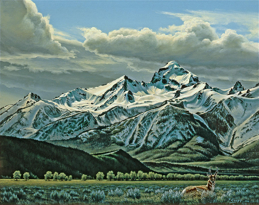 Landscape Painting - Buck Mountain From Antelope Flat by Paul Krapf