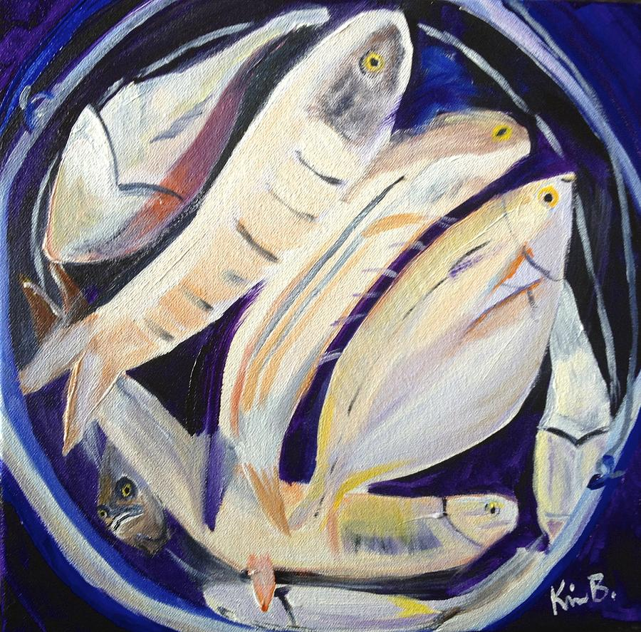 Bucket of fish painting by kimberly balentine for Bucket of fish