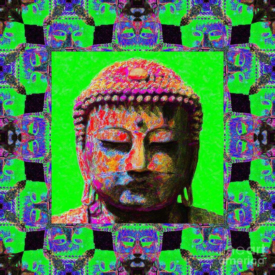 Buddha Abstract Window 20130130m180 Photograph