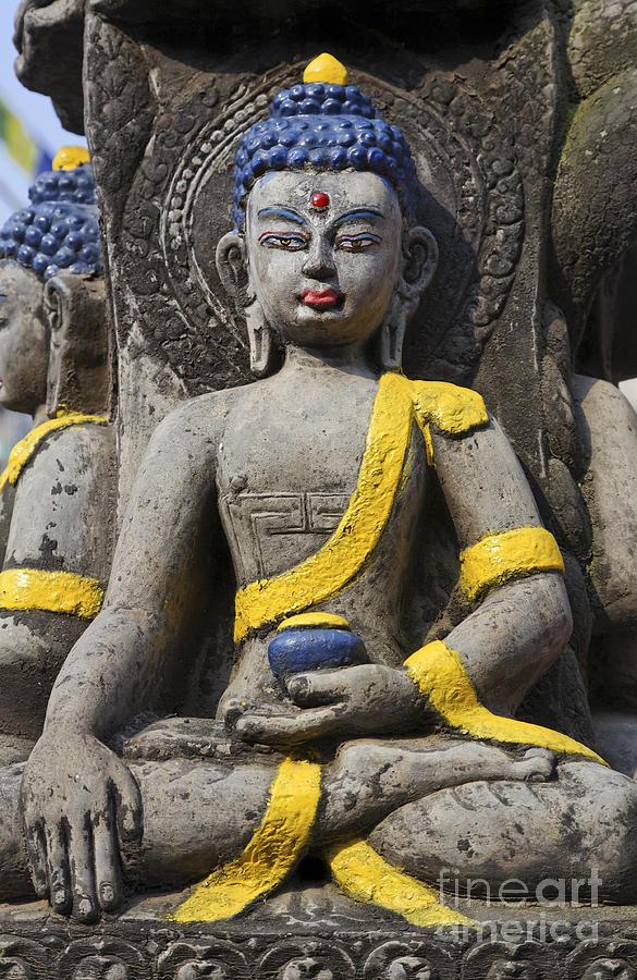 Buddha Figure In Kathmandu Nepal Photograph