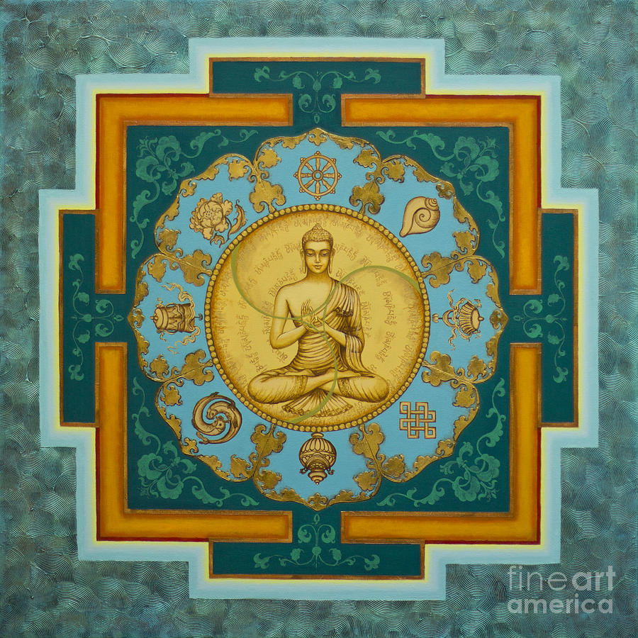 Buddha. Jewels Of Dharma Painting