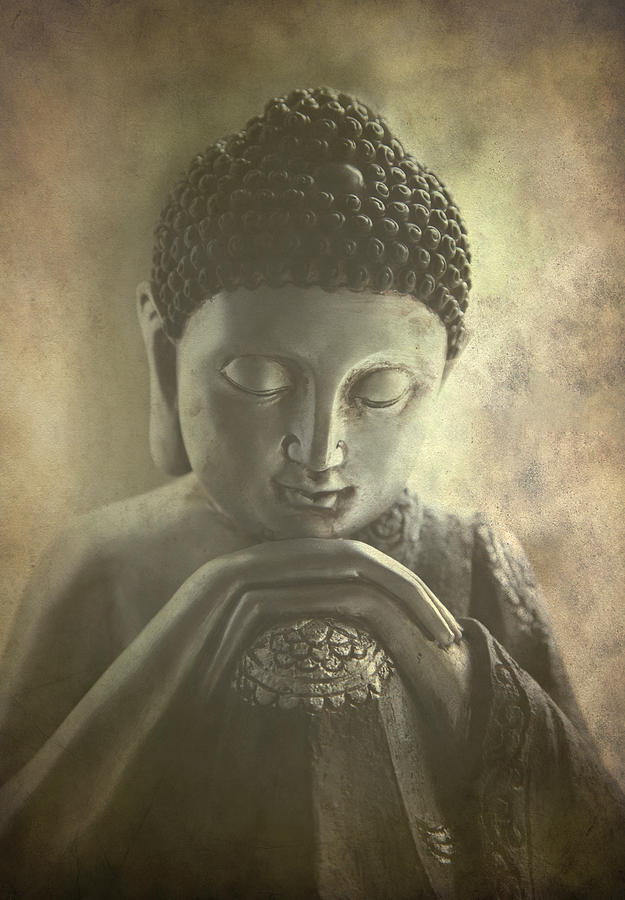 Ancient Photograph - Buddha by Madeleine Forsberg