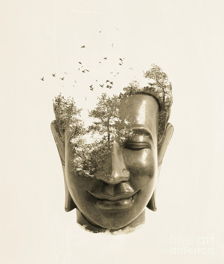 Buddha Non Attachment Digital Art  - Buddha Non Attachment Fine Art Print