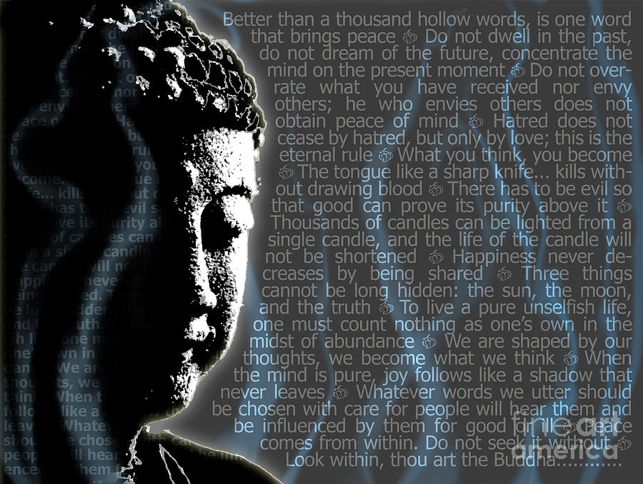 Quotes Buddha Paintings Quotesgram: Buddha Quotes Digital Art By Sassan Filsoof